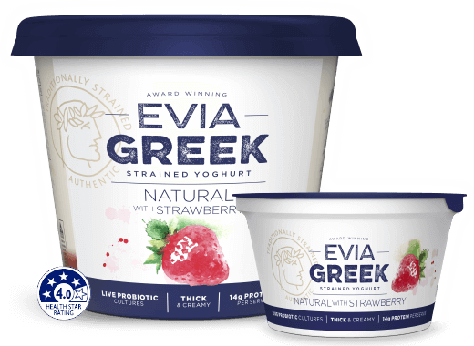 Evia Yoghurt Natural Strawberry